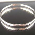 Fine Silver Handcrafted Bangle Bracelet