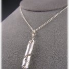 "Fine Silver Pendant Necklace ""Twisted"""