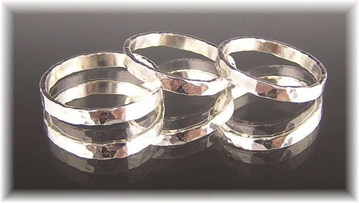 Fine Silver Band Rings