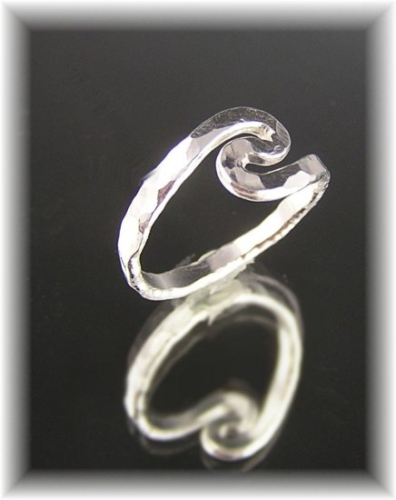 "Fine Silver Abstract Ring ""Swirls"""
