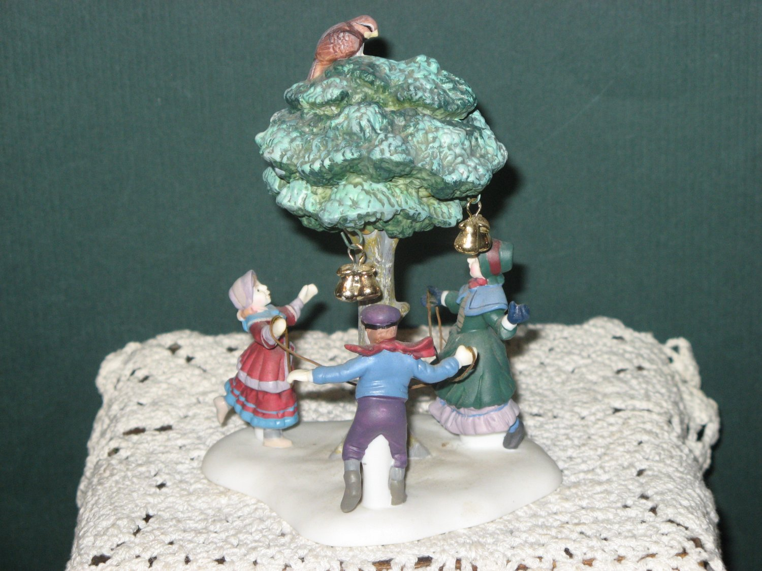 A Partridge In A Pear Tree Handpainted Porcelain Christmas Accessory New