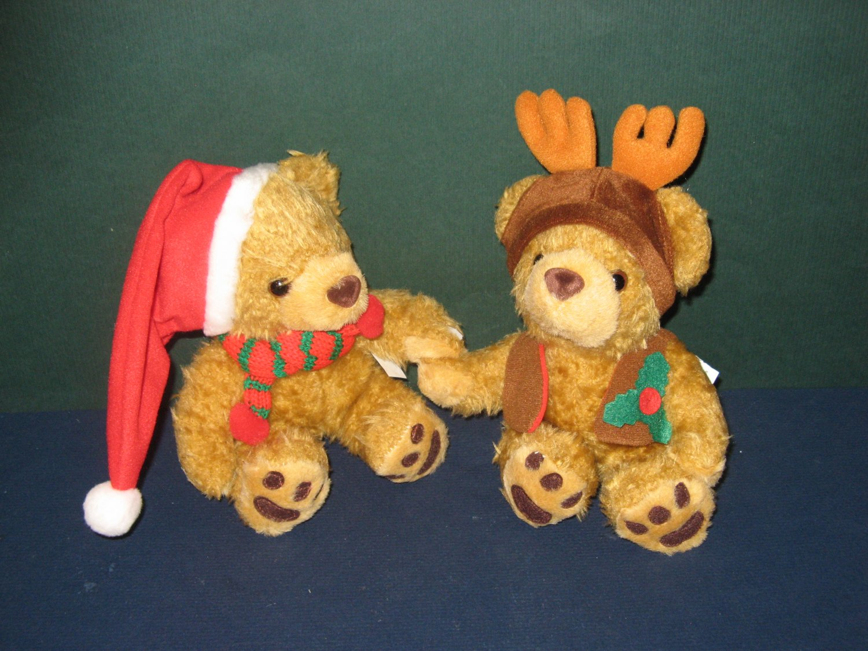 Two Cute Christmas Bears New