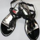 New ALFANI VOCE Black Pat Sandals Women's Shoes Size-5.5M