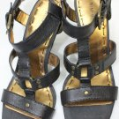 NEW NINE WEST SESSION Black Strappy Shoes Size-5.5M