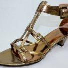 NEW NINE WEST HULLABOO Dark Gold Gradiator Women's Shoes Size-5.5M
