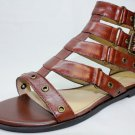 New MARC FISHER GLORI Brown Leather Gladiators Women's Shoes Size-6M