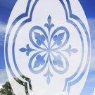 "Solar Stat 21""x 33"" Oval Flower - Reverse Decorative Window Decoration"