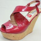 Used STEVE MADDEN WHEATLEY Fusch Platforms & Wedges Women's Shoes Size-8.5M