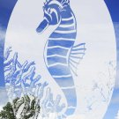 "21"" x 33""  Oval SEA HORSE Window Decoration by SOLAR STAT"