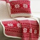 New Martha Stewart Fair Isle Sweater Knit Decorative Pillow