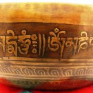 """7"""" Hand hammered/Painted Tibetian Singing bowl  , FREE cushion,Reails $100"""