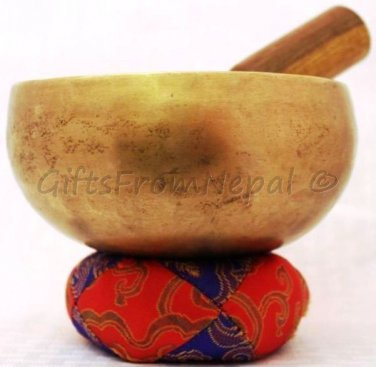 "Tibetan SINGING BOWL ~ 5"" Handmade Brass Chakra Buddhist Meditation bowls 2016"