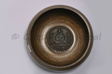 """7"""" Inside Crafted Singing Bowl,Made of 7 metals,Meditation Bowls from Nepal 2037"""