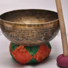 "12"" Hand Hammered/Painted Singing Bowl, Meditation Bowls,Striker&Cushion 2057"