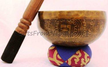 "6"" Hand Hammered/Painted Singing Bowl, Handmade Meditation Bowl From Nepal 2021b"