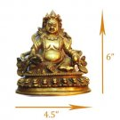 Kuber God Brass Antique Statue - God of Wealth- Kubera Lord of Riches 100S