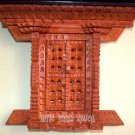 Nepalese Traditional Hand Carving Rosewood Window - Door from Nepal~Wooden Frame