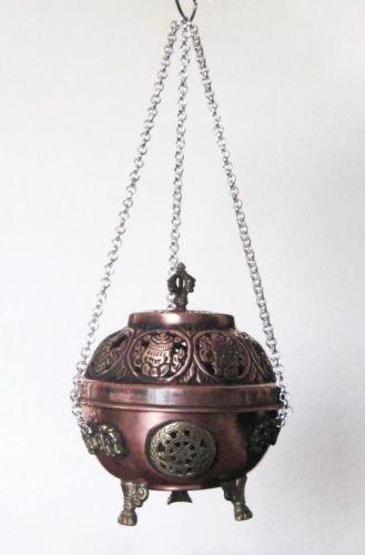 Copper Antique Hanging Tibetan Buddhist Incenses/Incense Stick Burner, 102I