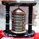 TIBETAN PRAYER WHEEL - Handmade Wooden Mane from Nepal- PRAYER MANEY -DRUM WHEEL