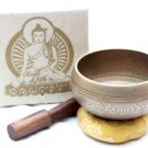 "3.6"" Tibetan Singing Bowl - Bronze Singing Bowl - Meditation Chakra Singing Bowl"