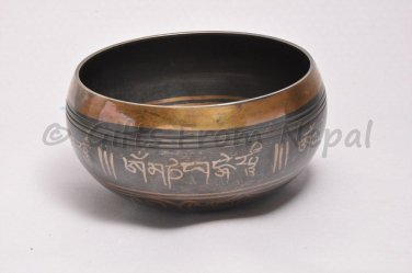 "5"" Tibetian Singing bowl - made of 7 metals, meditation bowls from Nepal"