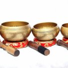 Tibetan Hand Beaten Singing Bowl - Hand Beaten Healing Chakra Set - Set of 5