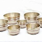 3 Metal Chakra Healing Tibetan Singing Bowl Sets - Free Mallets,Cushions - 7 pcs