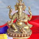 """6"""" Ganesh Brass Statue from Nepal , Hindu Lord Ganesh -Handmade Statue - B5"""