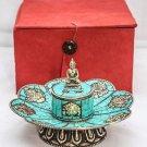 Green Tibetan Artistic Lotus Incence Burner