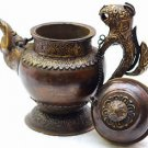 Handmade Tibetan Tea Pot - Decorative Antique Design  Buddhist Copper Teapot