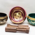 Tibetan Singing Bowl Sets of 3 - Chakra healing Singing Bowl from Nepal