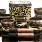 Tibetan Singing Bowl Set of 7-Chakra Healing Meditation Bowls