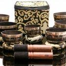 Tibetan Singing Bowl Sets - Chakra Healing Meditation Bowls - Om Mane Padme Hum