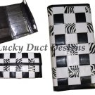Handmade Zebra Black and White Woven Duct Tape Women's Wallet