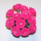 Handcrafted 1 Dozen Pink and Zebra Duct Tape Rose Flower Pens