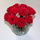 Handcrafted 1 Dozen Red Roses Duct Tape Flower Pens