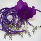 "Purple Rubber Bracelet with ""HOPE"" Charm"