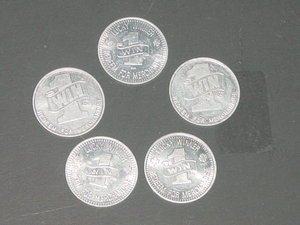 5 AC RA Lucky Winner Coins Redeem for Merchandise VINTAGE FAIRGROUND TOKEN Lot 2