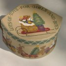 Holiday Fabric Paper Mache Decorative Box, Cover LOTS OF TOYS FOR GIRLS AND BOYS