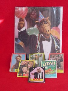 ALF TV Series Photo Picture, 5 Trading Cards & a Sticker Card Vintage Collection