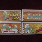 4 Smurf Super Cards Rare 1982 Topps Trading Card Lot 2