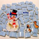 72 Snowman w Cat & Dog Mosaic Puzzle Tiles