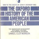 The Oxford History of the American People Vol 3 1972 Samuel Eliot Morison Book