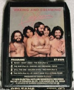 Orleans Waking and Dreaming Vintage 8 Track Tape Music Stereo Cartridge Cassette