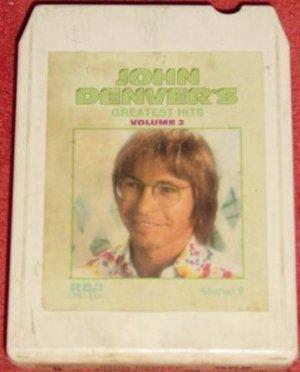 John Denver Greatest Hits, Volume 2 Vintage 8 Track Tape Stereo Music Cartridge