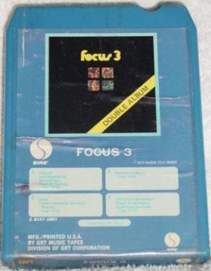 Focus 3 Double Album Vintage 8 Track Tape Stereo Music Cartridge Cassette