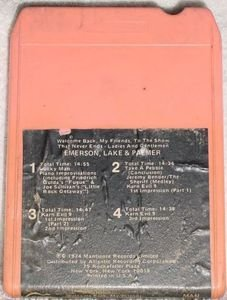 Emerson Lake & Palmer Welcome Back My Friends Part Two Vintage 8 Track Tape