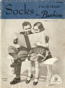 Vintage Socks 2 to 14 years by Beehive Series No. 68 Magazine