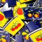 94 Tree Fruit on Yellow & Blue Mosaic Tiles