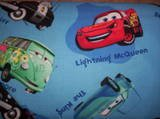 Disney cars on blue Medical ScrubTop